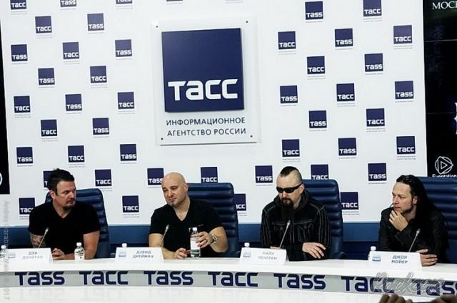 Репортаж с пресс-конференции Disturbed 16-го марта