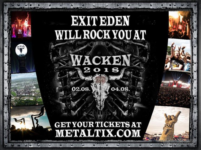 Exit Eden выступят на Wacken 2018